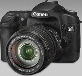 Canon EOS 40D schwarz mit Speedlite 580EX II Blitzgerät (1901B046)