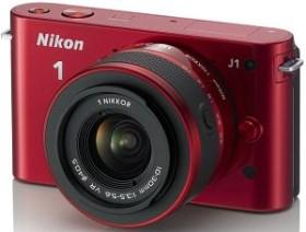 Nikon 1 J1 rot mit Objektiv VR 10-30mm 3.5-5.6 (VVA155K001)