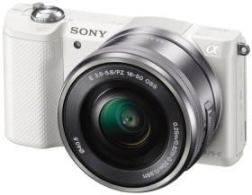 Sony Alpha 5000 weiß mit Objektiv AF E 16-50mm 3.5-5.6 OSS PZ (ILCE-5000LW)