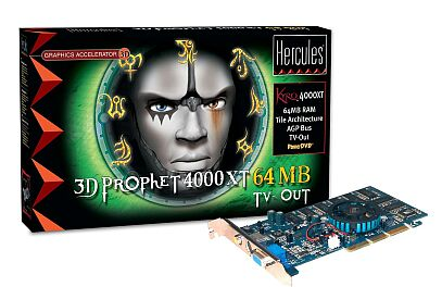 Guillemot / Hercules 3D Prophet 4000 XT, Kyro, 64MB, TV-out, AGP, Retail (4780140)