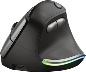 Trust Bayo Ergonomic rechargeable wireless Mouse, black/grey, USB (24110)