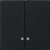 Gira System 55 Wippe 2fach, schwarz matt (0631 005)