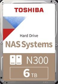 Toshiba N300 NAS Systems 6TB, SATA 6Gb/s, bulk (HDWN160UZSVA)