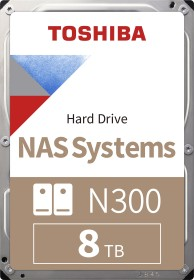 Toshiba N300 NAS Systems 8TB, SATA 6Gb/s, bulk (HDWN180UZSVA)