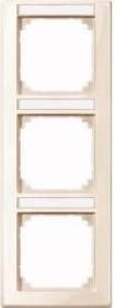 Merten System M M-SMART Rahmen 3fach Thermoplast brillant, weiß (470344)