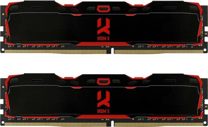 Goodram IRDM X schwarz DIMM Kit 16GB, DDR4-3000, CL16-18-18-36 (IR-X3000D464L16S/16GDC)