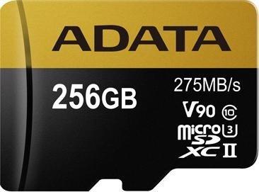ADATA Premier ONE R275/W155 microSDXC 256GB Kit, UHS-II U3, Class 10 (AUSDX256GUII3CL10-CA1)