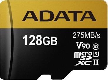 ADATA Premier ONE R275/W155 microSDXC 128GB Kit, UHS-II U3, Class 10 (AUSDX128GUII3CL10-CA1)