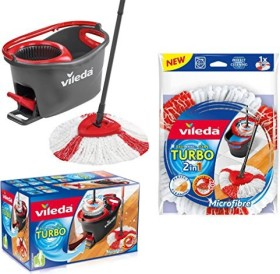 Vileda EasyWring & Clean Turbo Wischmop-Set (153096/151153/151154/158721)