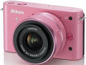 Nikon 1 J1 pink mit Objektiv VR 10-30mm 3.5-5.6 (VVA153K001)