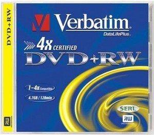 Verbatim DVD+RW 4.7GB 2.4x, Jewelcase 1 sztuka