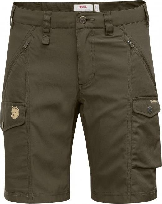 Fjällräven Nikka Curved Shorts Hose kurz dark olive (Damen) (F89731-633)