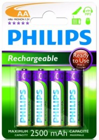 Philips MultiLife Ready to Use Mignon AA NiMH 2500mAh, 4-pack (R6B4RTU25/10)