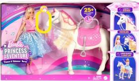 Mattel Barbie Princess Adventure Tanzendes Pferd mit Prinzessin (GML79)