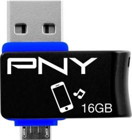 PNY Duo-Link On-the-Go 16GB, USB-A 2.0/USB 2.0 Micro-B (FDI16GOTGOU1K-EF)