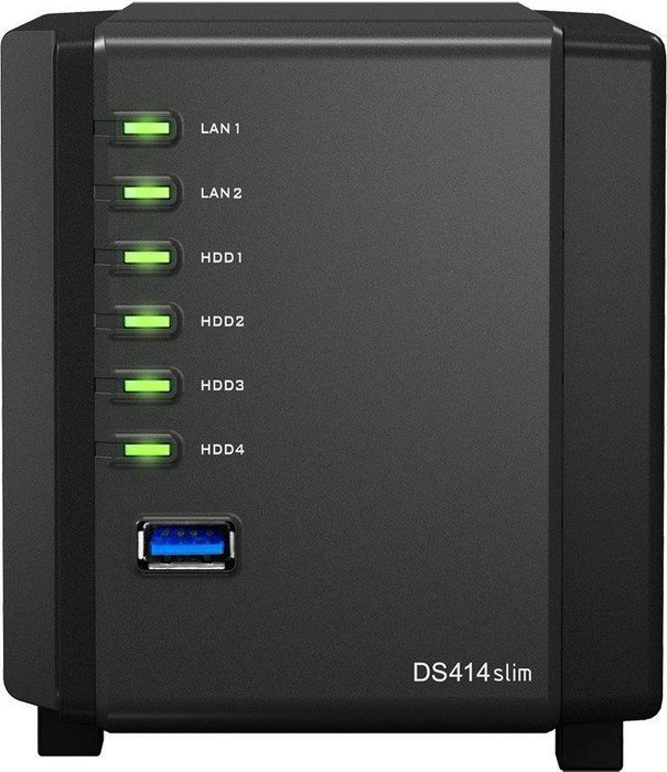 Synology Diskstation DS411slim 2000GB, Gb LAN