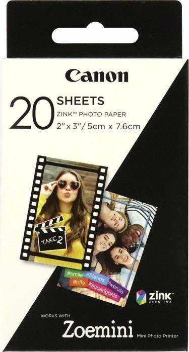 "Canon ZINK ZP-2030 2x3"" Photo Paper, 20 Blatt (3214C002)"