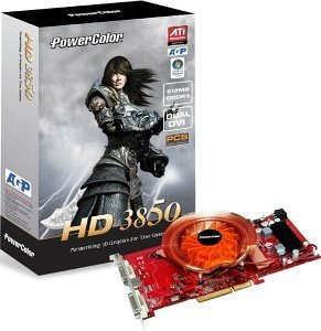 PowerColor Radeon HD 3850 PCS, 512MB DDR3, 2x DVI, TV-out, AGP (R67CG-PE3)