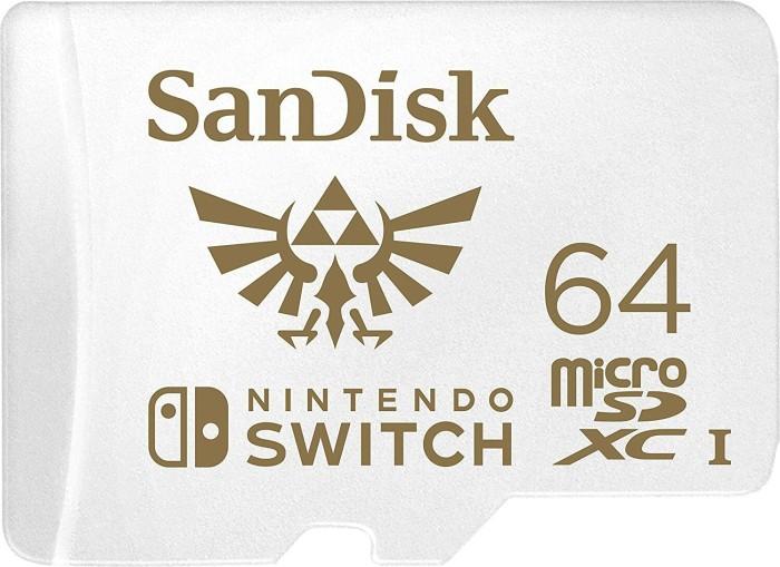 SanDisk Nintendo Switch 2019 R100/W60 microSDXC 64GB, UHS-I U3, Class 10 (SDSQXAT-064G-GNCZN)