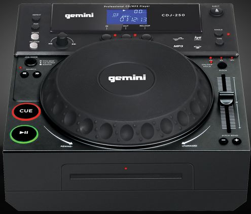Gemini CDJ-250 CD turntable black