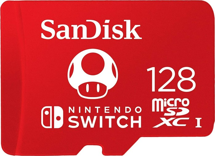 SanDisk Nintendo Switch 2019 R100/W90 microSDXC 128GB, UHS-I U3, Class 10 (SDSQXAO-128G-GNCZN)