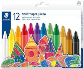 Staedtler Noris Club 226 Super Jumbo Wachskreide 14mm, sortiert, 12er-Set (226-NC12)