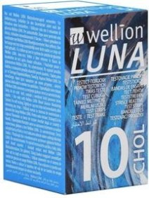 Wellion Luna CHOL Cholesterin-Teststreifen, 10 Stück