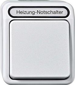 Merten Aquastar Heizungs-Notschalter, lichtgrau (MEG3448-8029)