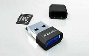 ADATA Turbo microSDHC 16GB microReader Ver. 3 blau, Class 10 (AUSDH16GCL10-RM3BKBL)