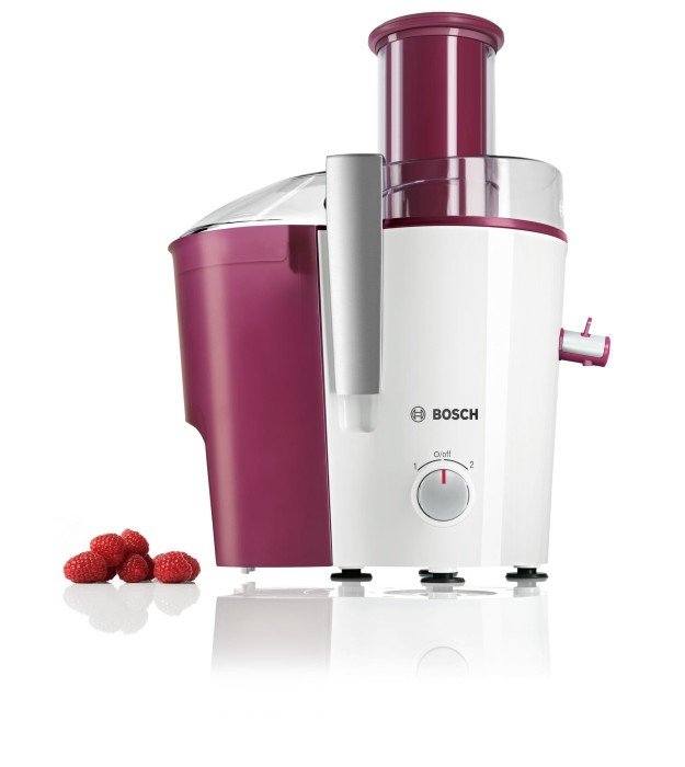 Bosch VitaJuice Entsafter MES25C0 XL-Einfüllschacht 700 Watt Motor Weiß-Cherry
