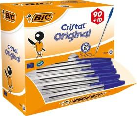 BIC Cristal Original, 0.4mm blau, 90+10 Value Pack, 100er-Pack (942910)