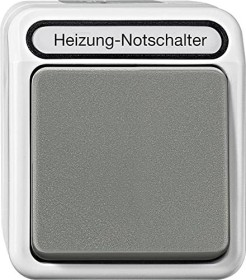 Merten Aquastar Heizungs-Notschalter 2-polig, lichtgrau (MEG3449-8029)