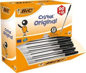 BIC Cristal Original, 0.4mm schwarz, 90+10 Value Pack, 100er-Pack (942911)
