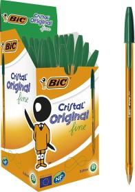 BIC Cristal Original fine, 0.35mm grün, 50er-Pack (872729)
