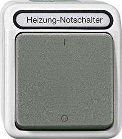 Merten Aquastar Heizungs-Notschalter, lichtgrau (MEG3643-8029)