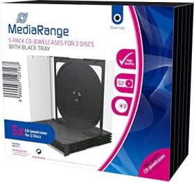 MediaRange CD-empty shell for 2 Discs Jewelcase 5 pieces black (BOX31-2)