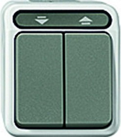 Merten Aquastar Rollladen-Wippschalter, lichtgrau (MEG3715-8029)