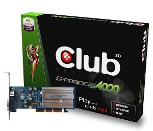Club 3D GeForce MX4000, 128MB DDR, TV-out, AGP (CGN-B188TV)