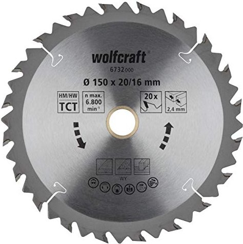 Wolfcraft Holz-Kreissägeblatt (6732000) -- via Amazon Partnerprogramm