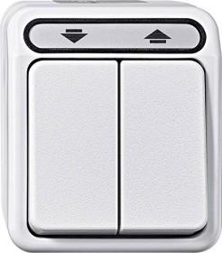 Merten Aquastar Rollladen-Wippschalter, polarweiß (MEG3715-8019)