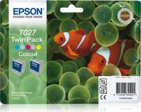Epson Tinte T027 dreifarbig, 2er-Pack (C13T02740310)