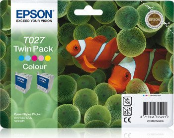 Epson Tinte T027 farbig, 2er-Pack (C13T02740310)