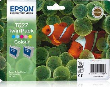Epson T027 Tinte farbig, 2er-Pack (C13T02740310)
