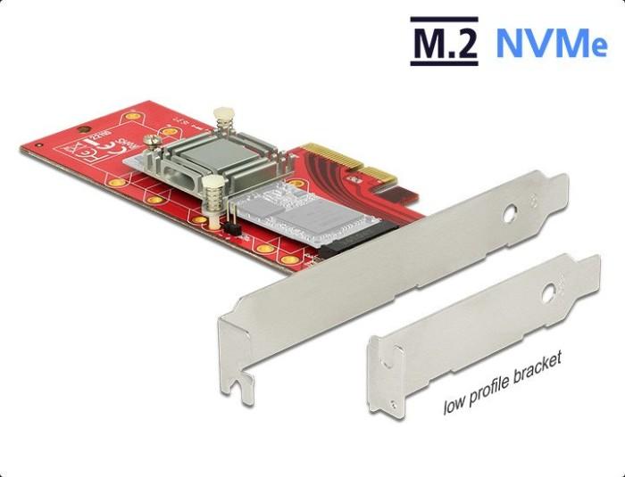 DeLOCK PCI Express x4 Card > 1x internal NVMe M.2 Key M 110mm with heat sink (89577)