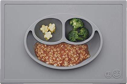 Bild ezpz Happy Mat Kinderteller 15x10cm grau