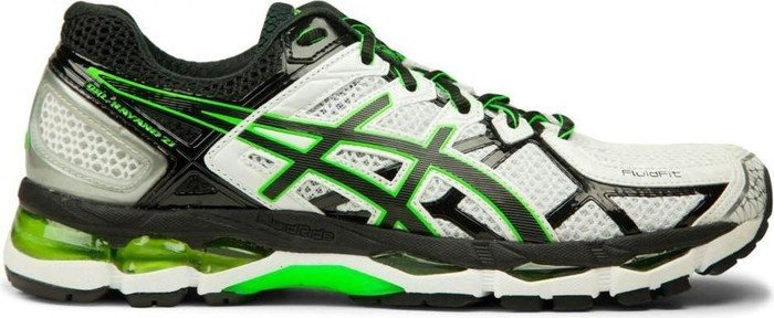 Asics Gel-Kayano 21 white/black/flash green (Herren) (T4H2N-0190)