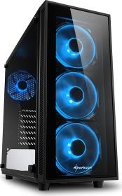 Sharkoon TG4 Blue, Glasfenster, Lüfter LED blau