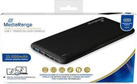 MediaRange Mobile Charger 25000mAh USB-C schwarz (MR754)