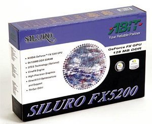 ABIT Siluro FX5200 DT, GeForceFX 5200, 128MB DDR, DVI, TV-out, AGP