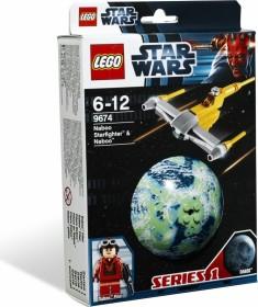 LEGO Star Wars Buildable Galaxy - Naboo Starfighter & Naboo (9674)